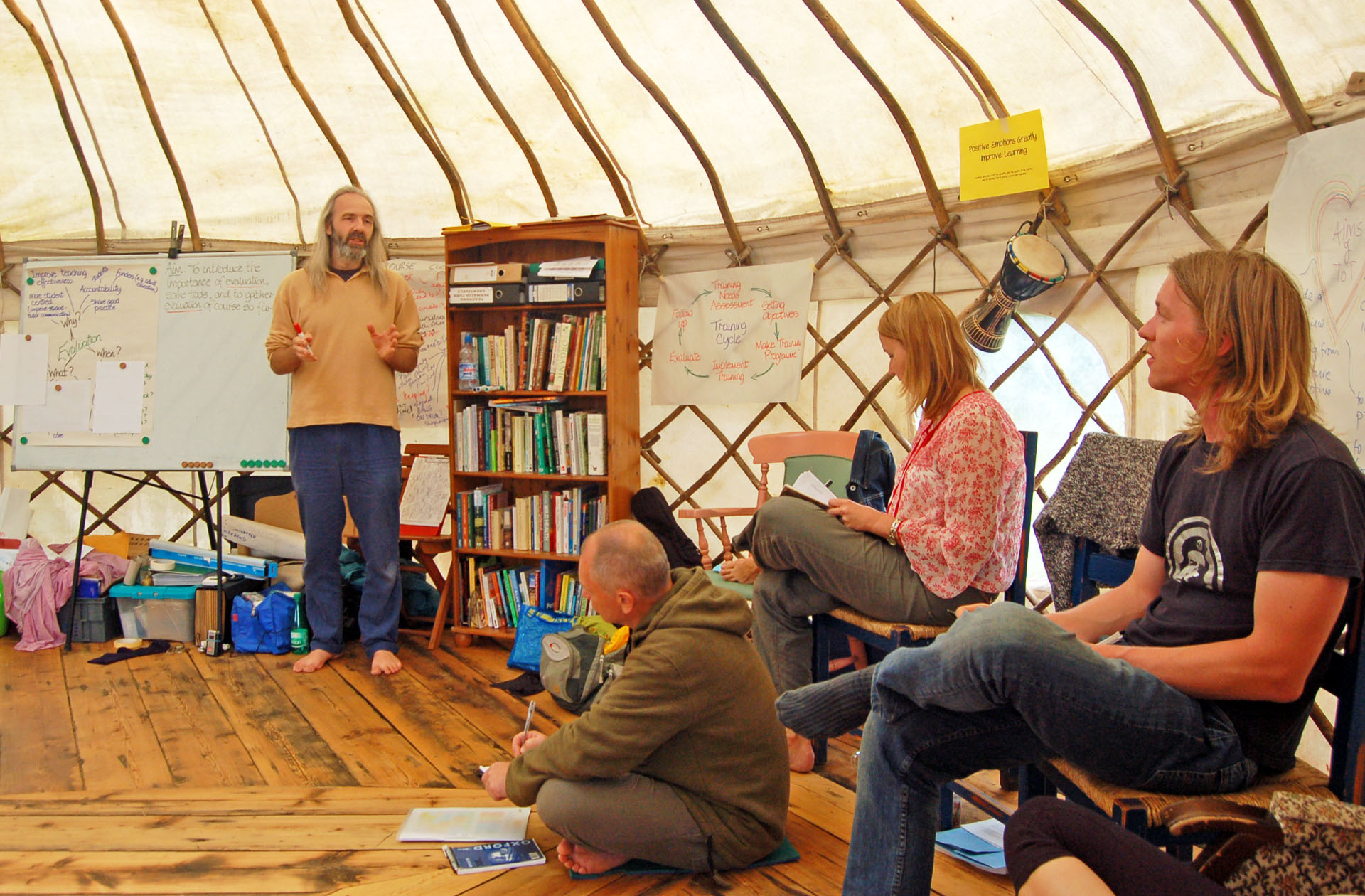 Aranya teaching in yurt